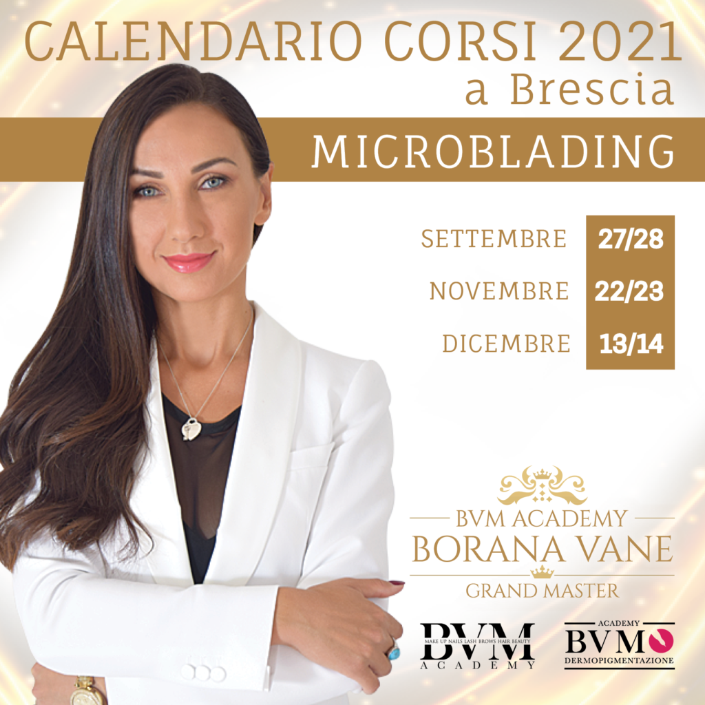 Calendario corsi Microblading Brescia