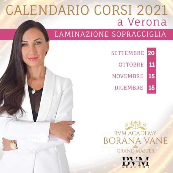 Calendario corsi Laminazione Sopracciglia Verona