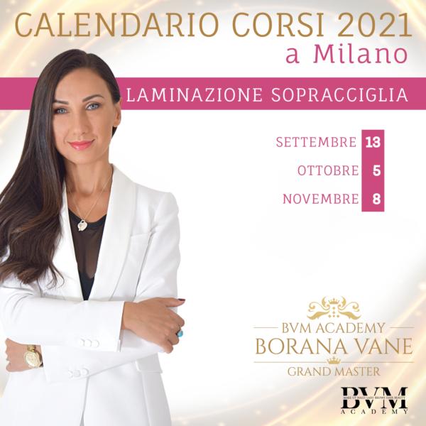 Calendario corsi Lam sopracciglia Milano