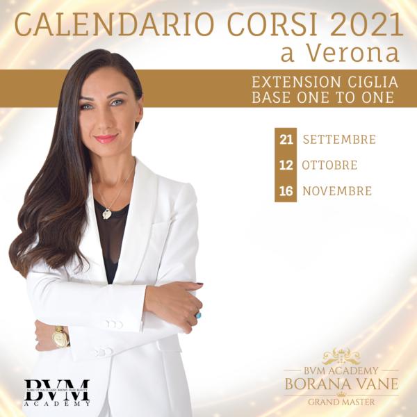 Calendario corsi Extension ciglia Verona