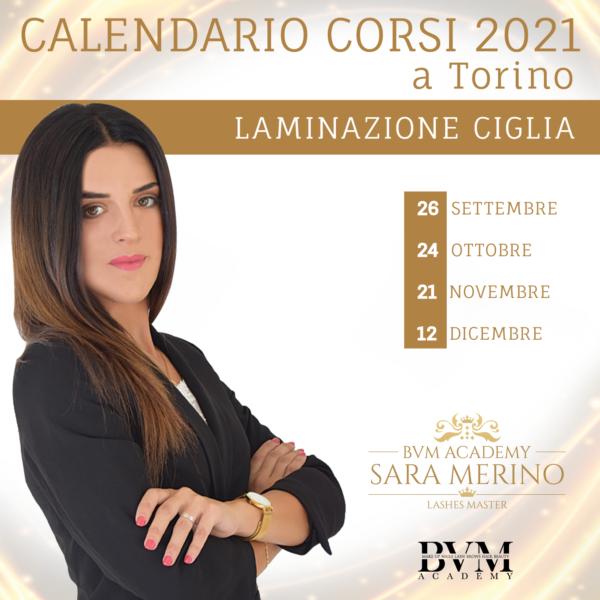 Calendario corsi Laminazione ciglia Torino