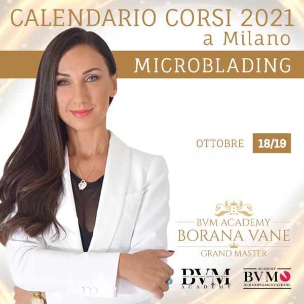 Calendario corsi Microblading Milano