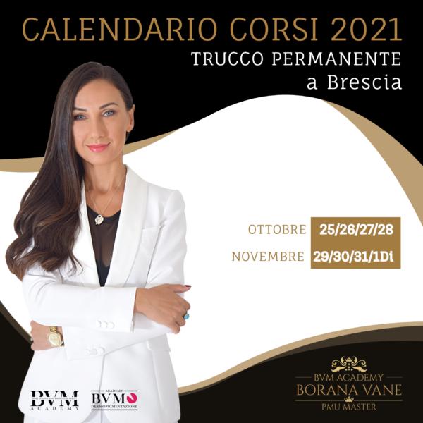 Calendario Corso trucco permanente Brescia