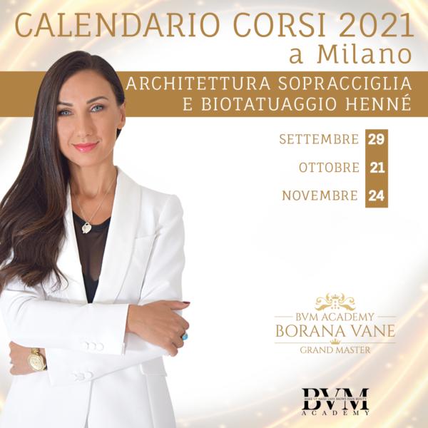 Calendario corsi Henne Milano