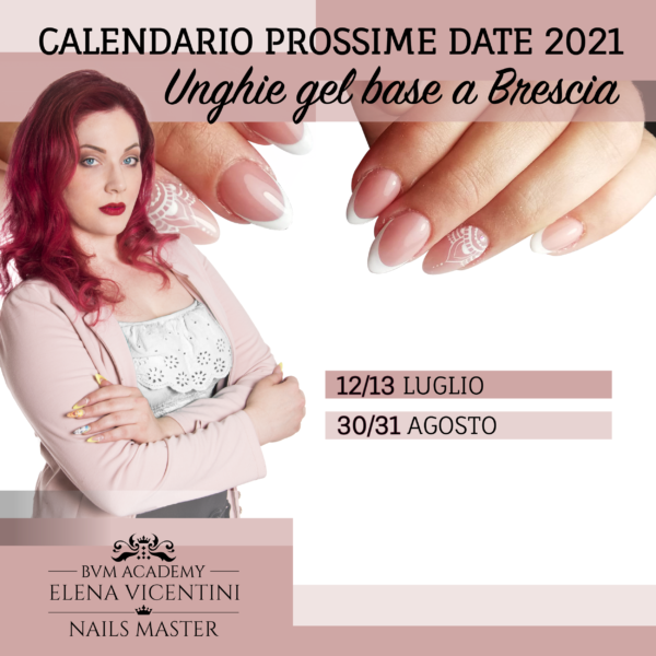 calendario corsi unghie Base Brescia