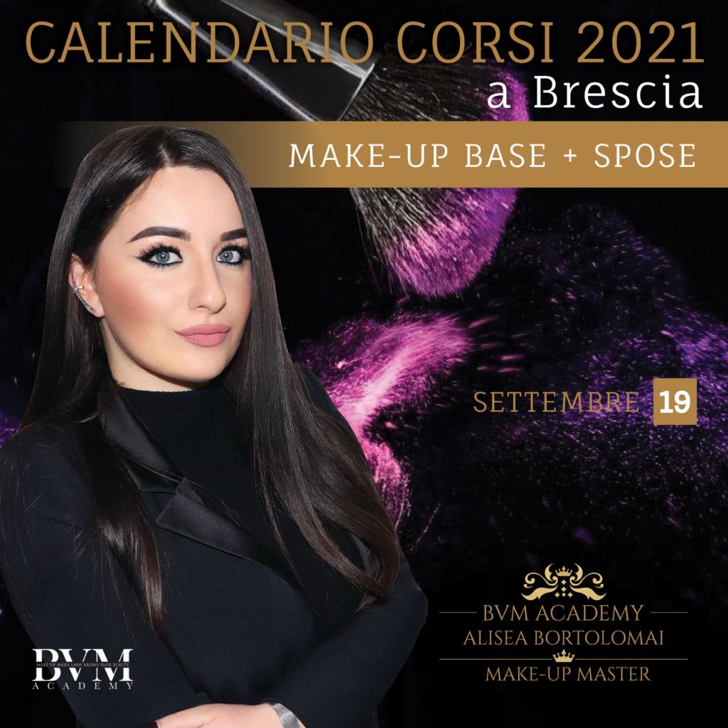 Calendario corsi Make up Brescia